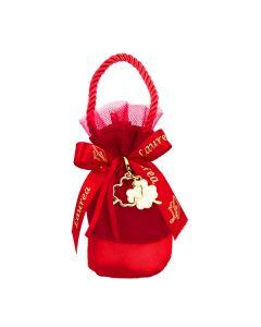 Mini borsetta con base crep rosso
