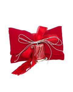 Busta lettera crep rosso