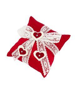 Cuscino shantung di seta rosso