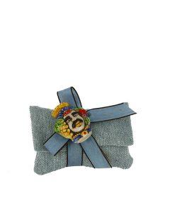 Busta lettera cotone grezzo blu
