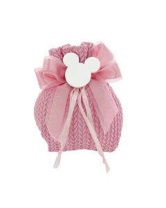 Mini busta con tirante cotone intrecciato rosa
