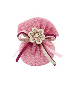 Busta base tonda cotone intrecciato rosa