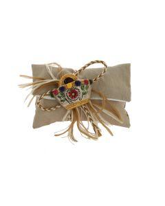 Busta lettera con strappo tessuto sintetico beige