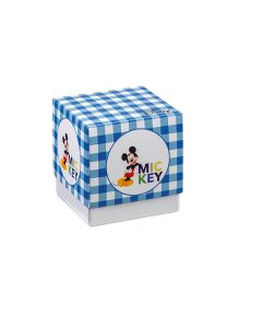Portaconfetti Disney Party cubo piccolo con stampa Topolino