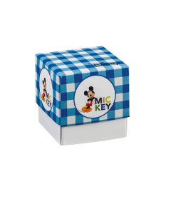 Scatola cubo medio Mickey party