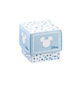 Portaconfetti Disney Stars cubo piccolo azzurro
