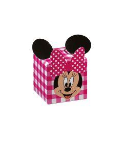 Cubo portaconfetti Minnie party fuxia