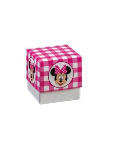 Cubo piccolo Portaconfetti Disney Party fucsia Topolina