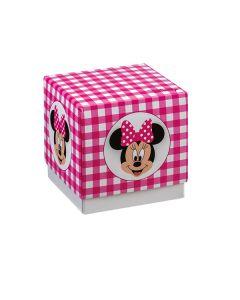Cubo grande Portaconfetti Disney Party fucsia Topolina