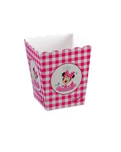 Vasetto piccolo smerlato Minnie party