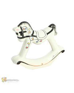Bomboniera ceramica cavallo a dondolo Nicarè
