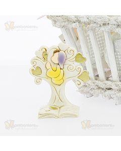 Bomboniera albero stilizzato con bimba comunione