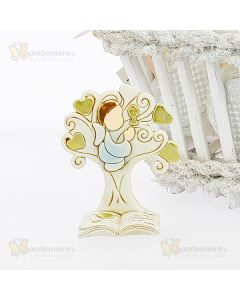 Bomboniera albero stilizzato con bimbo comunione