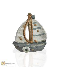 Bomboniera Ocean barca a vela piccola colorata