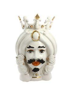 Testa di moro uomo bianca con corona