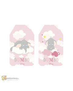 Bigliettino tag Dumbo rosa