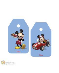 Bigliettino tag Mickey mouse go auto