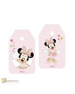 Bigliettino tag Minnie ballerina glitter
