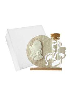 Bomboniera icona in legno cuore comunione