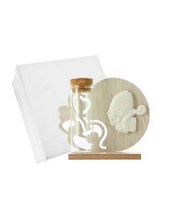 Bomboniera icona in legno cuore cresima