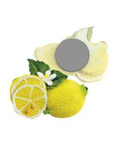 Bomboniera magnete limoni grandi con foglie e fiori