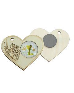 Bomboniera magnete cuore glass comunione