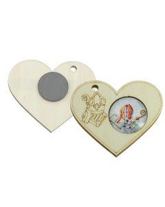 Bomboniera magnete cuore glass cresima