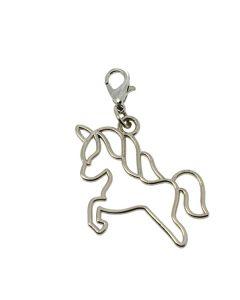 Accessorio ciondolo unicorno argento con moschettone
