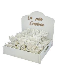 Kit bomboniere cresima con box angelo completo di confetti