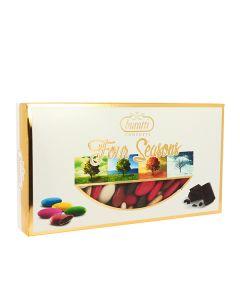 Confetti cioccolato sfumati inverno marrone