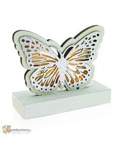 Bomboniera farfalla legno con led