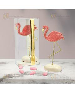 Bomboniera Flamingo con sasso
