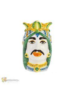 Bomboniera Nicarè testa di moro grande uomo colorata