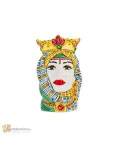 Bomboniera Nicarè testa di moro donna araba colorata