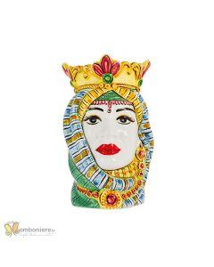Bomboniera Nicarè testa di moro grande donna colorata