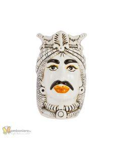 Bomboniera Nicarè testa di moro grande uomo arabo decorata