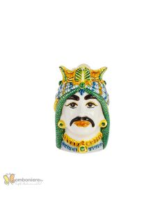 Bomboniera Nicarè testa di moro uomo arabo colorata