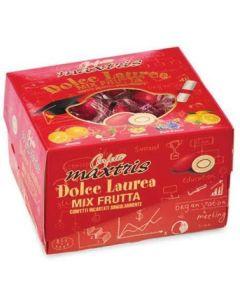 Dolce laurea mix frutta incartato cioccomandorla rosso