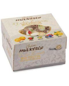 Dolce evento mix frutta incartato cioccomandorla bianco