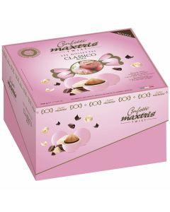 Confetti ciocconocciola incartati dolce arrivo twist rosa