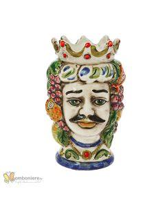 Bomboniera Nicarè testa di moro uomo frutta colorata