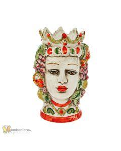 Bomboniera Nicarè testa di moro donna frutta colorata