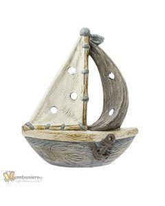 Accessorio per confettata Ocean barca a vela grande colorata con led