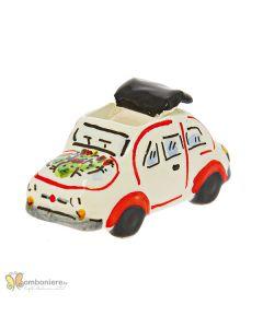 Bomboniera in ceramica, auto 500 piccola Nicarè