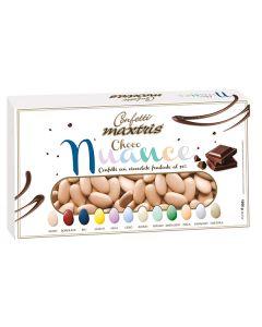 Confetti choco nuance nudo cioccolato fondente